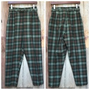 Vintage High Waisted Plaid Pants XS